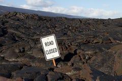 La lava ha bloccato la strada Fotografie Stock Libere da Diritti