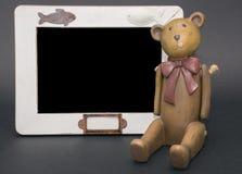 La lavagna dell'orsacchiotto Fotografia Stock