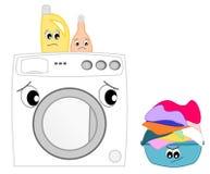 La lavatrice impaurita Fotografia Stock