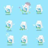 La leche hace diversas emociones libre illustration