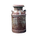 La leche oxidada puede aislado con el camino de recortes imagen de archivo libre de regalías