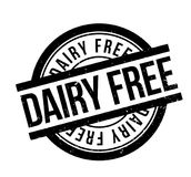 La lechería libera el sello de goma stock de ilustración