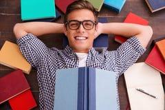 ¡La lectura es mi afición! Fotografía de archivo libre de regalías