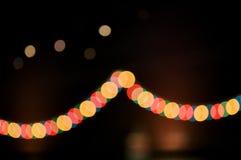 La LED allume le fond de festival de guirlande photo libre de droits