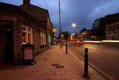 La Leeds en la noche Imágenes de archivo libres de regalías