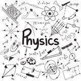 La legge di teoria di scienza di fisica e l'equazione di formula matematica, fanno illustrazione di stock