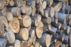 La legna da ardere è tutto il materiale di legno Fotografia Stock Libera da Diritti
