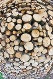 La legnaia con il taglio dei ceppi ha allineato per il riscaldamento durante Fotografia Stock Libera da Diritti
