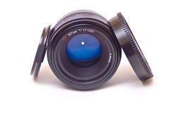 La lente del Autofocus aisló Fotografía de archivo