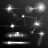 La lente si svasa bianco Fotografia Stock Libera da Diritti