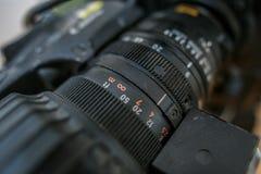 La lentille de la caméra de télévision Photos libres de droits