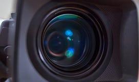 La lentille de la caméra de télévision Image stock