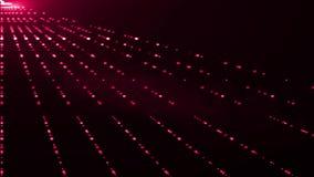 La lentille optique de lumières lasers mobiles latérales diagonales évase fond brillant d'art d'animation de bokeh - nouvelle qua banque de vidéos