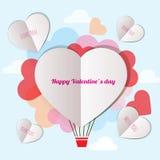La letra envía al amante el día del ` s de la tarjeta del día de San Valentín stock de ilustración