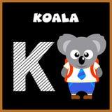 La letra K de alfabeto inglés Fotos de archivo libres de regalías