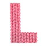 La letra L alfabeto inglés, colorea rojo Fotografía de archivo libre de regalías