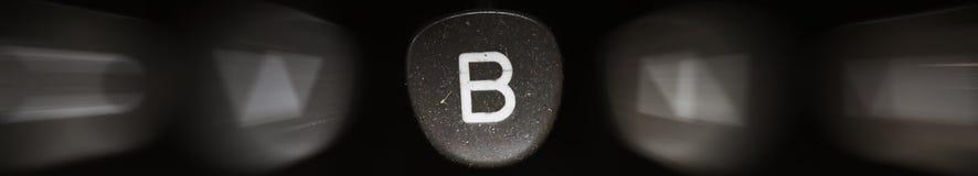 La lettera dell'alfabeto in B inglese Fotografie Stock