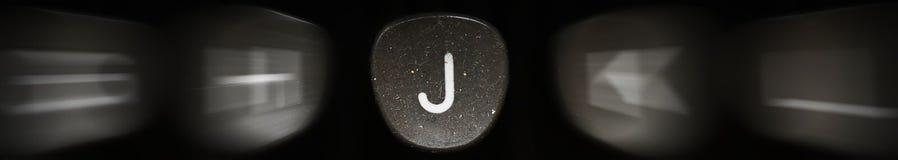 La lettera dell'alfabeto in J inglese Fotografia Stock
