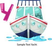 La lettera di alfabeto dell'illustrazione y-yacht Fotografia Stock Libera da Diritti