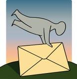 La lettera invia Fotografie Stock Libere da Diritti