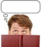 La letteratura della lettura rinforza l'attività di pensiero Immagini Stock Libere da Diritti