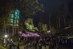 La Lettonia celebra il giorno di Lacplesa 11 novembre Immagine Stock