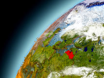 La Lettonia dall'orbita di Earth di modello Fotografie Stock