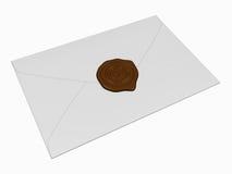 La lettre avec un sceau Photos stock