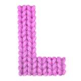 La lettre L alphabet anglais, colorent le rose Image stock