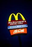 La ley contiene los juguetes felices de la comida de McDonald's Imágenes de archivo libres de regalías
