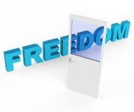 La liberté de porte représente obtiennent partie et des portes Photo libre de droits