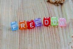 La liberté se connectent le bois Photo stock