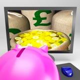 La libra despide las demostraciones Sterling Money Financing Profit Fotografía de archivo