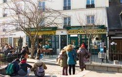 La libreria famosa Shakesperare e società, Parigi, Francia fotografia stock
