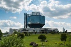 La libreria nazionale del Belarus fotografie stock