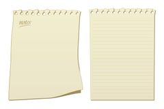 La libreta pagina vector Imagen de archivo libre de regalías