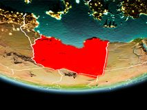 La Libye en rouge le soir Image stock