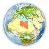 La Libye sur terre d'isolement illustration de vecteur