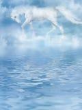 La licorne en nuages Photo stock