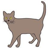 La ligne ébauche d'illustration d'abrégé sur conception de bande dessinée de Cat Icon a rayé l'animal Illustration de Vecteur