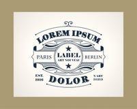 La ligne élégante de vintage Art Logo, Emdlem et monogramme conçoivent, dirigent le calibre Images libres de droits