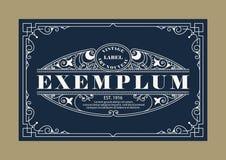 La ligne élégante de vintage Art Logo, Emdlem et monogramme conçoivent, dirigent le calibre Photos libres de droits