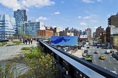 La ligne élevée dixième avenue Photo libre de droits