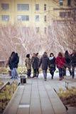 La ligne élevée parc New York City Image libre de droits