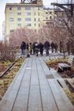 La ligne élevée parc New York City Image stock