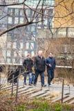 La ligne élevée parc New York City Photos libres de droits