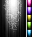 La ligne avec des cercles brillent le fond vertical Photographie stock libre de droits