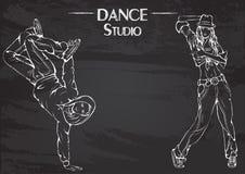 La ligne craie de danse streen la danse Images libres de droits