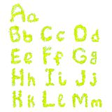 La ligne décorative alphabet de lettrage, style de collection de croquis, est Photo stock