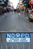La ligne de police ne croisent pas photo stock